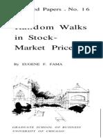 Random Walks in stock market prices