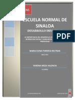 LA IMPORTANCIA DEL DESARROLLO COGNITIVO PARA LA INTERACCION SOCIAL Y FAMILIAR EN EL NIÑO A EDAD PREESCOLAR