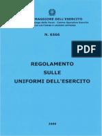 Pub SME 6566 Reg Uniformi 2009 - Regolamento sulle uniformi dell'esercito