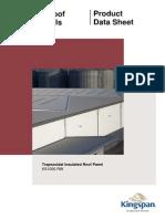 KS1000 RW Panel UK Roof Poduct Data Sheet