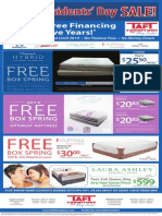 Taft Furniture Full Page Presidents' Day Ad 2014