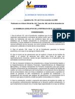 Ley Del Sistema de Tarjetas de Credito en El Salvador