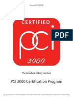 PCI 3000 Certification Guidelines
