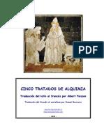 Albert Poisson Cinco Tratados de Alquimia Trad by Ismael Berroeta