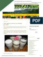 Panelas de Capim_ Leites Vegetais e Vitaminas Com Sementes Germinadas
