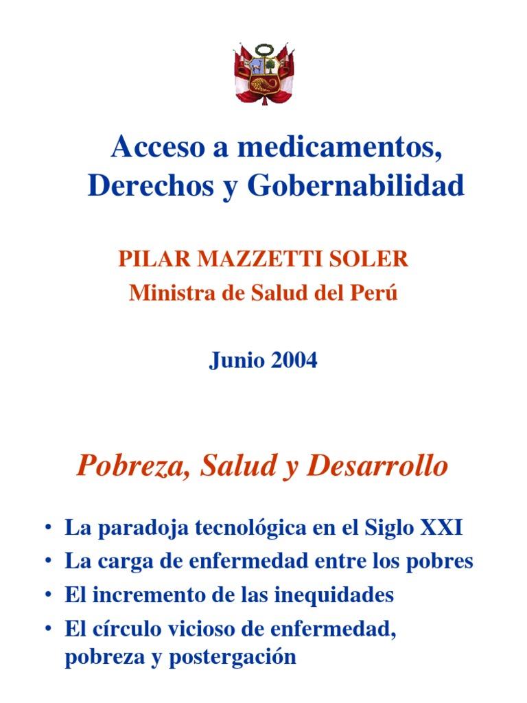 Acceso a medicamentos ppt | Peru | Poverty