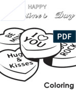 Valentine's Coloring Book