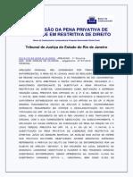 Conversao Pena Privativa Liberdade Restritiva Direito