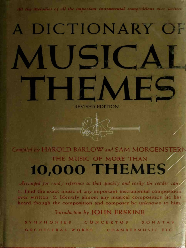 A Dictionary of Musical Themes Barlow