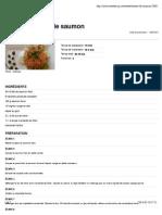 Tartare de saumon - Recettes du Québec