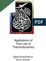thermodynamics laws applications