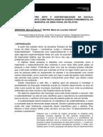 A RELAÇÃO ENTRE ARTE E SUSTENTABILIDADE NA ESCOLA- TRABALHANDO A ARTE COM A RECICLAGEM NO ENSINO FUNDAMENTAL- artigo