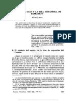 09. Mª Jesús Soto, Nicolás de Cusa y la idea metafísica de expresión