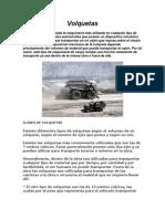 GUIA COMPLETA de MAQUINARIA Volquetas, Camciones, Rendimientos