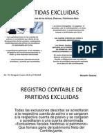 PARTIDAS EXCLUIDAS