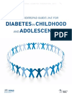 Diabetes in Childhood and Adolescence Guidelines