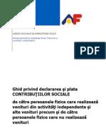 GHID Plata Contrib Sociale PFA 2013