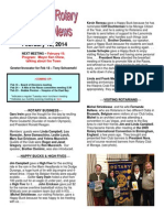 Rotary Club of Moraga Newsletter 2-11-14