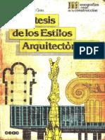 Libro - Sìntesis de los Estilos Arquitectònicos