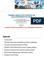 Wang - Mass Flow Controller Gas Conversion Factors MSC 2014