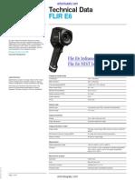 AC FLIRE6 Infrared Camera Technical Data