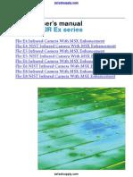 AC FLIR E Series Infrared Camera Manual