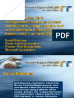 Troubleshooting DNS Using DCDIAG