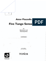 Astor Piazzolla - Five Tango Sensations(Bandoneon and String Quartet)