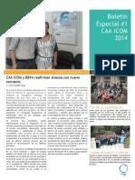 Boletín Especial #1 CAA ICOM 2014
