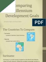 comparing millenium goals slide show
