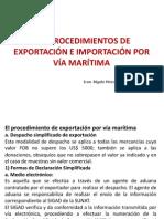 Procedimientos de Exportacion e Importacion Maritima