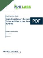 Exploiting Java Memory Corruption