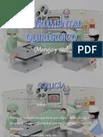 Instrumental quirúrgico, uso y manejo.