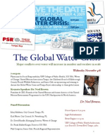 Water Crisis Flyer