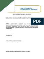 """DISERTACIÓN JURIDICA EN MATERIA AMBIENTAL SALVADOREÑA OBSERVADA DESDE LOS TERMINOS DEL CAPITULO DIECISIETE """"AMBIENTAL"""", DEL TRATADO DE LIBRE COMERCIO ENTRE CENTRO AMERICA  –  ESTADOS UNIDOS DE NORTEAMERICA Y REPUBLICA DOMINICANA/ MARLON ADAN PACHECO RAMIREZ"""