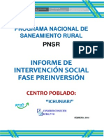 Informe Intervencion Socialfase de Preinversion - Ichuniari