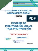 Informe Intervencion Socialfase de Preinversion - Ichuniari