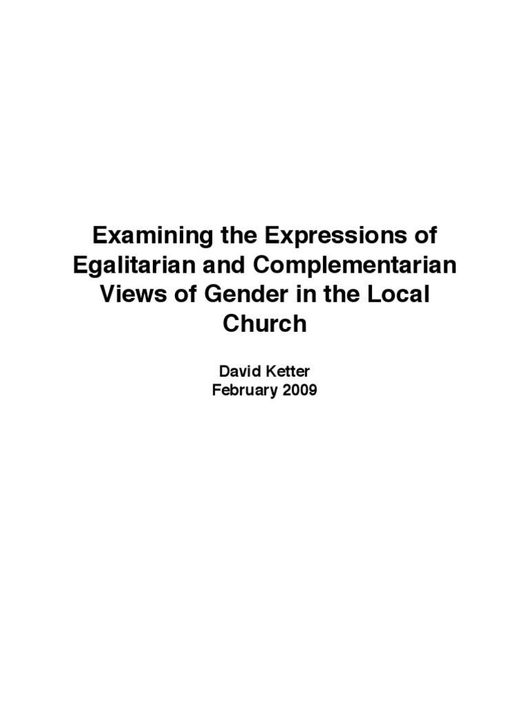 Egalitarian vs complementarian positions for sexual health