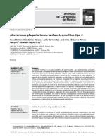 Alteraciones Plaquetarias en La Diabetes Melitus Tipo 2