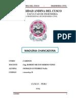 Chancadora de Piedra Informe