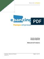 Manual de Producto E-Banking Pampa Empresas