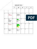 Schedule for Winter 2014(1)