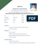 Resume for CADET Jeerawat M