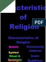 characteristics of religion