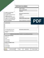 88919080 F FI 08 Formato Apertura de Caja Menor1 ANTIGUO