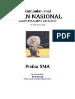 Naskah Soal UN Fisika SMA 2013 (45 Paket Soal) Pak-Anang.blogspot.com