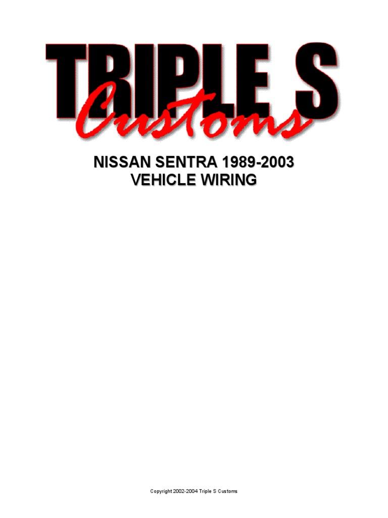Nissan Sentra 1989 2004 Wiringpdf B13 Fuse Box Diagram