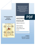 Informe Ascensor Escolar