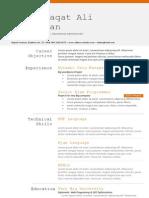 Profliaqat - CV Template