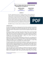 ANALYSIS OF THE FACTORS AFFECTING EXCHANGE RATE  VARIABILITY IN PAKISTAN